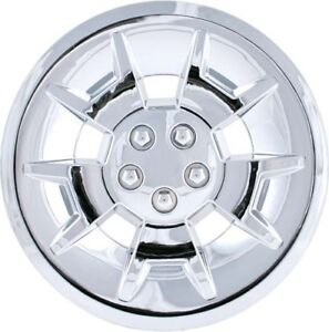 "GOLF CART CHROME 10"" HUB CAP SET OF 4 Fits CLUB CAR EZ GO YAMAHA"
