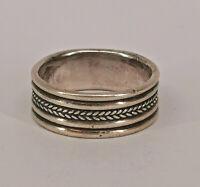 99825640 925er Silber Ring  Relief Rillen Gr.54 alt