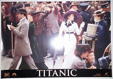 "Titanic (1997) 'Rose boards'  Italian photobusta movie poster (17.5""x25"") S/S"