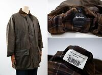 Men's Barbour Northumbria Waxed Wax Cotton Jacket Green Size A825 42/107сm