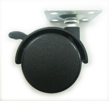 """4/pk 1.5"""" furniture swivel casters wheels w/1.5x1.5 plate+brake replacement part"""