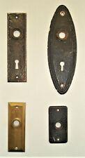 4 Different Vintage Door Knob Escutcheon Back Plates.Victorian & Other Various