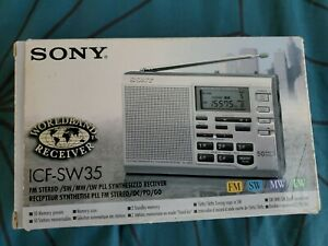 Sony ICF-SW35 Digital World Band Radio Receiver Brand New In Box BNIB Rare