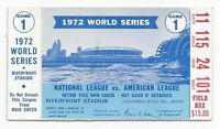 1972 World Series ticket Oakland A's Cincinnati Reds Game 1 Gene Tenace 2 HRs