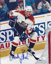 MARTIN STRAKA AUTOGRAPH PHOTO 8 X 10  Florida Panther Away Jersey JSA/COA