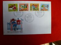 KIDS BOOKS CHARACTER 1984 SWITZERLAND FDC  4 STAMPS