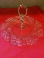 Collectors Crystal Galleries. Silverplated Crystal Serving Tray by Fairfield