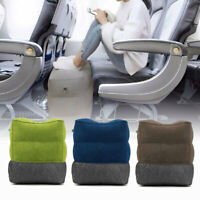 Travel Inflatable Foot Rest Portable Footrest Pillow Plane Train Relax