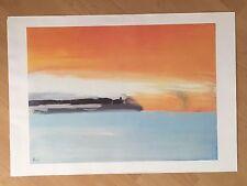 "Kunstdruck Poster ""Seaside Railway Line in the Setting Sun"", Nicolas de Staël"