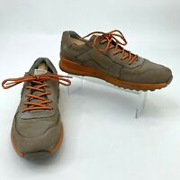 Ecco E-DTS Golf Shoes Men's Size 43 Brown Leather Hydro-Max Extra Wide Athletic