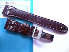 - Strap in 22mm - Brown Leather in 22/18mm - Pilot Flieger b-uhr - IWC Style