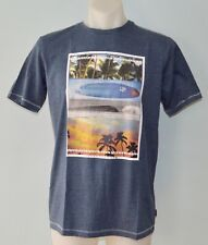 Quiksilver Boys Printed T Shirt - BLUEISH GREY- SIZE - 8,12,14 & 16 YEARS - NEW