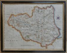 Durham County Map. Original early 19th Century Copperplate Map, John Cary 1805