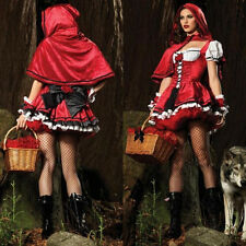 Little Red Riding Hood Fancy Masquerade Sexy Womens Dress Costume Costume