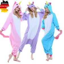 DE Erwachsene Pyjamas Kigurumi Kostüm Tier Einhorn Onesie Nachtwäsche S M L XL #
