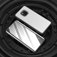 Para Samsung Galaxy J6 Plus J610F Transparente Ver Smart Funda Plata Bolsa Wake
