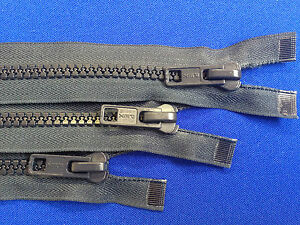 """ZIP NAVY OPEN ENDED 8 36CM 14"""" WEIGHT NON RUST METAL SLIDER PLASTIC TEETH CHUNKY"""