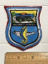 Akvariet i Bergen Aquarium Seal Seahorse Norway Norwegian Souvenir Patch Badge