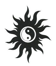 M 41 tattoo,body,black white,chinese yin yang,party,women,men,sun,stickers.