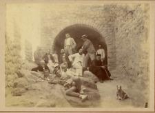 Excursion, vers 1890 Vintage print Tirage albuminé  12x17  Circa 1890
