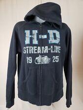 Harley-Davidson Women's Embellished H-D Hoodie, Blue streamline 1925 A-4