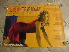 Tie Me Up Tie Me Down movie poster - Almodovar, Victoria Abril original uk quad