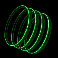 "Oracle 4215-004 15"" Green LED Illuminated Wheel Rings Rim Light Kit w/ Switch"