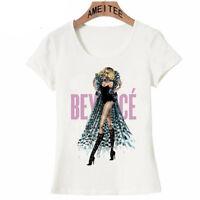 Women Beyonce T-Shirt Spring Fashion Short Sleeves Shirts 2018 Cotton Shirt New