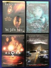 M. Night Shyamalan (4) Movie Lot DVD Signs The Happening Sixth Sense Lady In the