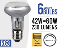 6x Eco 42w = 60w Dimmable Halogen Spot Light Bulb Lamp R63 E27 /ES Screw Fit