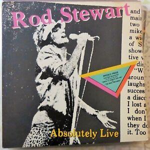 ROD STEWART 2XLP ABSOLUTELY LIVE 1982 USA VG++/VG++ OIS
