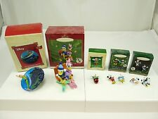 Mixed Lot Of HALLMARK Christmas Ornaments Mickey & Minnie Mouse Donald Duck