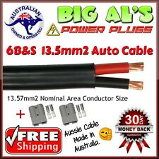 8 Metre 6 B&S Twin Core Automotive Auto Cable + 2 GRY Anderson Style DC Plugs
