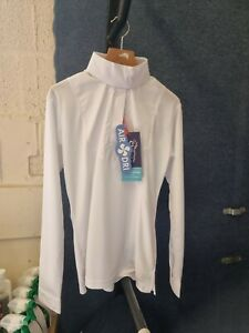 BRAND NEW - Shires White Shirt, detachable stock collar, Showing, Competition,