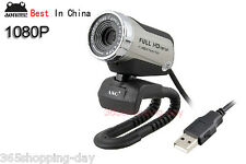 100% ANC 1080P Full HD USB PC LAPTOP Camera,webcam Built-in Mic,Night Vision