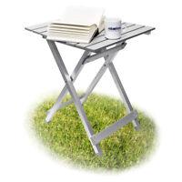 Klapptisch Aluminium Camping Tisch Beistelltisch 61 cm hoch klein faltbar