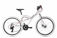 Mountainbike MTB Fully 26 Zoll Topspin weiß-rot Scheibenbremse KS Cycling 565M