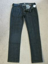Seven 7 For All Mankind ROXANNE Skinny Jeans NEW YORK DARK $178 SZ 26 (28 X 28)