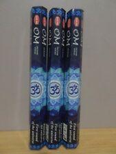 Om Incense  3 Packs x 20 Sticks  HEM Hex   Free Post AU