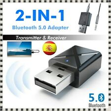 Bluetooth 5.0 Transmisor y Receptor de Audio Sonido Música cable Jack 3.5mm USB
