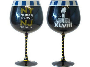 SUPER BOWL XLVIII  SEAHAWKS vs BRONCOS 2/2/14 NY & NJ  ARTISAN 33oz WINE GLASS