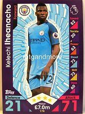 Match Attax 2016/17 Premier League - #178 Kelechi Iheanacho - Manchester City