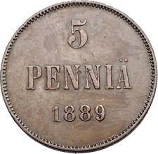 Pièces de monnaie de l'Europe du Nord, de Finlande