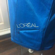 NWT Loreal Women's Blue Employee SS Shirt Salesman Sample Wicking Size M UV 40+