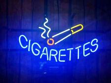 "Neon Light Sign 24""x18"" Cigars Cigarettes Open Shop Glass Decor Bar Lamp"