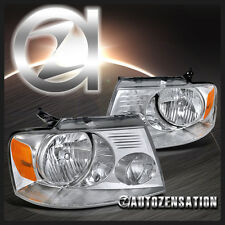04-08 Ford F150 06-08 Mark LT Truck Crystal Euro Clear Headlights Left+Right