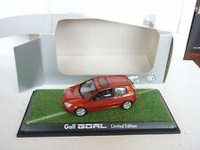 VOLKSWAGEN VW GOLF GOAL LIMITED EDition DIECAST CAR MODEL 1/43 DIECAST NEW