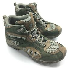Merrell Continuum Siren Song Mid Hiking Boot Womens 7.5 Seagrass Green Brown
