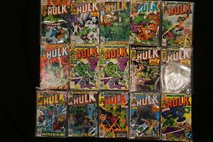 MARVEL COMICS (47) LOT OF 15 THE INCREDIBLE HULK COMICS