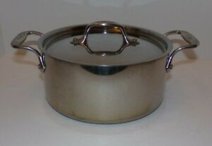 All Clad 3qt Covered  Stainless Steel Sauce Pan Casserole Double Handle 29711